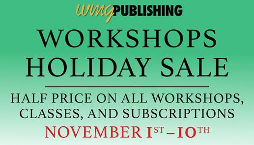 Half Off All Workshops!